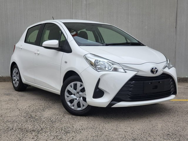 Used Toyota Yaris NCP130R Ascent Oakleigh, 2019 Toyota Yaris NCP130R Ascent White 4 Speed Automatic Hatchback