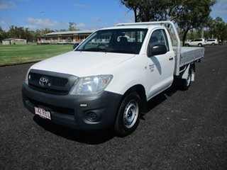 2010 Toyota Hilux TGN16R MY11 Upgrade Workmate Glacier White 5 Speed Manual Cab Chassis