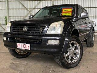 2004 Holden Rodeo RA LT Crew Cab Black 5 Speed Manual Utility.