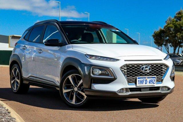 Used Hyundai Kona OS.3 MY20 Highlander 2WD Rockingham, 2020 Hyundai Kona OS.3 MY20 Highlander 2WD White 6 Speed Sports Automatic Wagon