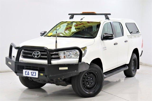 Used Toyota Hilux GUN126R SR Double Cab Brooklyn, 2018 Toyota Hilux GUN126R SR Double Cab White 6 Speed Sports Automatic Utility