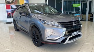 2018 Mitsubishi Eclipse Cross YA MY19 Black Edition 2WD Silver 8 Speed Constant Variable Wagon.