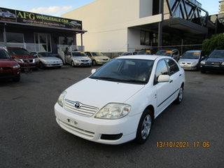 2004 Toyota Corolla ZZE122R Ascent White 5 Speed Manual Sedan.