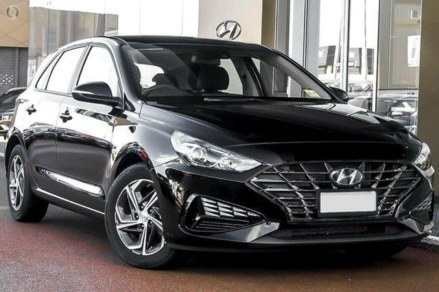 New Hyundai i30 PD.V4 MY22 Nailsworth, 2021 Hyundai i30 PD.V4 MY22 Phantom Black 6 Speed Sports Automatic Hatchback