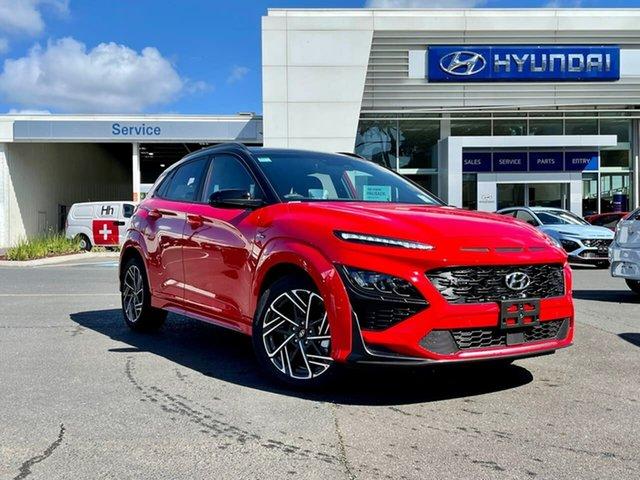 New Hyundai Kona Os.v4 MY21 N-Line D-CT AWD South Melbourne, 2021 Hyundai Kona Os.v4 MY21 N-Line D-CT AWD Mfr 7 Speed Sports Automatic Dual Clutch Wagon