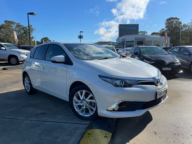 Used Toyota Corolla ZRE182R Ascent Sport S-CVT Glendale, 2018 Toyota Corolla ZRE182R Ascent Sport S-CVT White 7 Speed Constant Variable Hatchback
