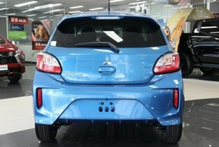 2021 Mitsubishi Mirage LB MY22 LS Cyber Blue 1 Speed Constant Variable Hatchback.