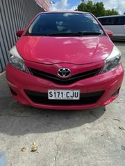 2013 Toyota Yaris NCP130R YR Pink 4 Speed Automatic Hatchback.