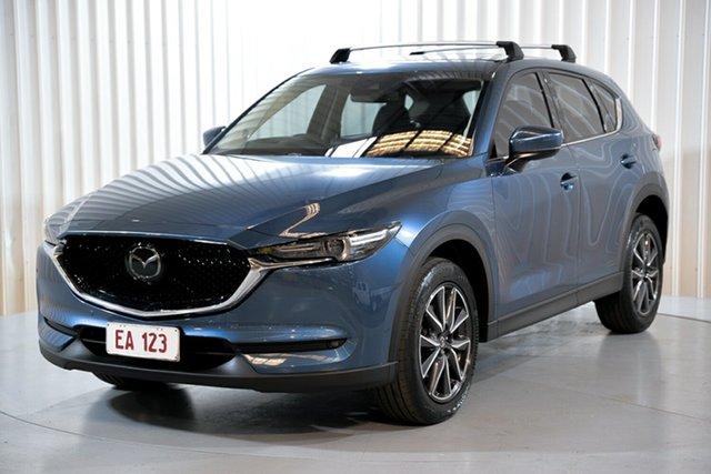 Used Mazda CX-5 KF4W2A Akera SKYACTIV-Drive i-ACTIV AWD Hendra, 2018 Mazda CX-5 KF4W2A Akera SKYACTIV-Drive i-ACTIV AWD Blue 6 Speed Sports Automatic Wagon