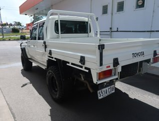 2019 Toyota Landcruiser VDJ79R Workmate Double Cab White 5 Speed Manual Cab Chassis