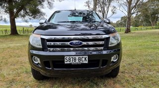 2014 Ford Ranger PX XLT Double Cab Black/Grey 6 Speed Sports Automatic Utility.