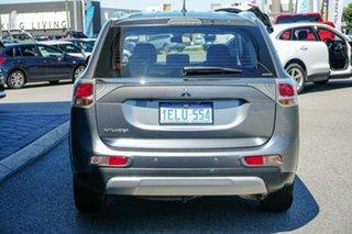 2013 Mitsubishi Outlander ZJ MY14 ES 4WD Grey 6 Speed Constant Variable Wagon