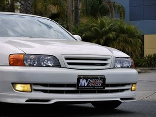 1997 Toyota Chaser JZX100 Tourer V White 4 Speed Automatic Sedan.