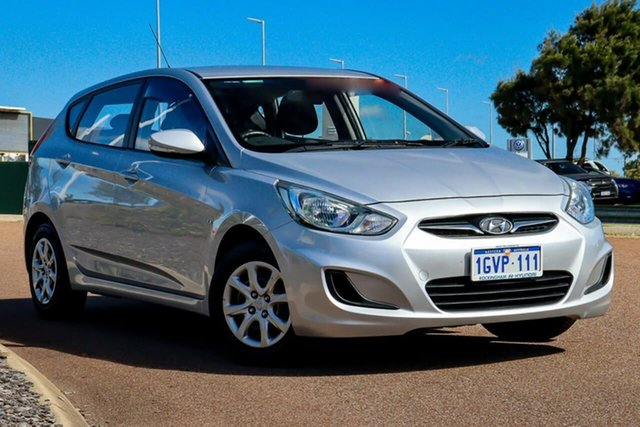 Used Hyundai Accent RB Active Rockingham, 2012 Hyundai Accent RB Active Silver 4 Speed Sports Automatic Hatchback