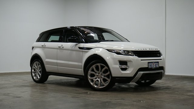 Used Land Rover Range Rover Evoque L538 MY15 Dynamic Welshpool, 2014 Land Rover Range Rover Evoque L538 MY15 Dynamic White 9 Speed Sports Automatic Wagon