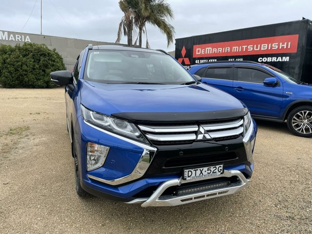 Used Mitsubishi Eclipse Cross YA MY18 Exceed AWD Cobram, 2018 Mitsubishi Eclipse Cross YA MY18 Exceed AWD Lightning Blue Continuous Variable Transmission
