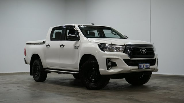 Used Toyota Hilux GUN126R SR Double Cab Welshpool, 2018 Toyota Hilux GUN126R SR Double Cab White 6 Speed Sports Automatic Utility