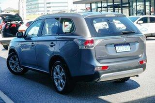 2013 Mitsubishi Outlander ZJ MY14 ES 4WD Grey 6 Speed Constant Variable Wagon.