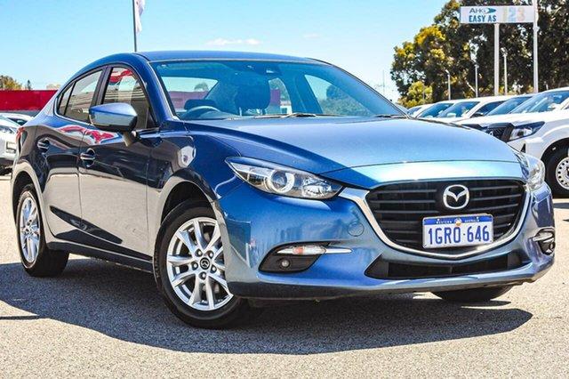 Used Mazda 3 BN5278 Maxx SKYACTIV-Drive Sport Cannington, 2018 Mazda 3 BN5278 Maxx SKYACTIV-Drive Sport Blue 6 Speed Sports Automatic Sedan