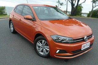 2018 Volkswagen Polo AW MY19 85TSI DSG Comfortline Orange 7 Speed Sports Automatic Dual Clutch.