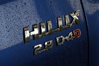 2017 Toyota Hilux GUN126R SR5 (4x4) Nebula Blue 6 Speed Manual Dual Cab Utility