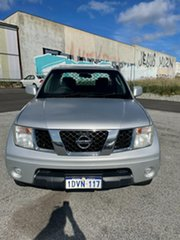 2012 Nissan Navara D40 ST-X (4x4) Silver 5 Speed Automatic King Cab Chassis.