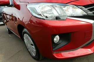 2021 Mitsubishi Mirage LB MY22 ES Red Planet 1 Speed Constant Variable Hatchback.