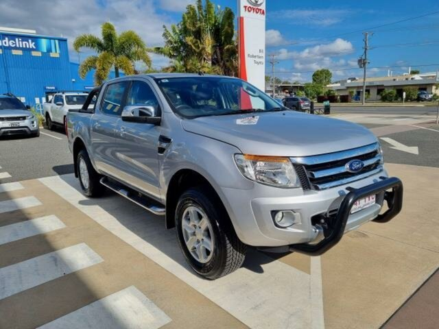 Pre-Owned Ford Ranger PX XLT 3.2 (4x4) Gladstone, 2013 Ford Ranger PX XLT 3.2 (4x4) Silver 6 Speed Automatic Double Cab Pick Up