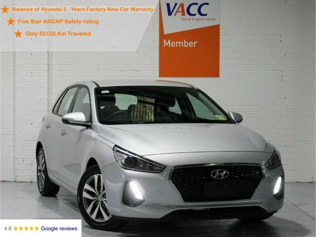 Used Hyundai i30 PD MY18 Active Moorabbin, 2017 Hyundai i30 PD MY18 Active Silver 6 Speed Sports Automatic Hatchback