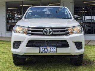 2017 Toyota Hilux GUN126R SR Double Cab White 6 Speed Manual Utility.