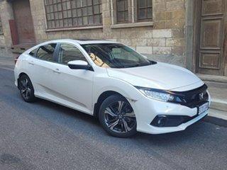 2019 Honda Civic 10th Gen MY19 VTi-LX White 1 Speed Constant Variable Sedan.