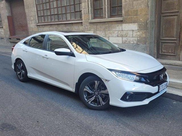 Used Honda Civic 10th Gen MY19 VTi-LX Cheltenham, 2019 Honda Civic 10th Gen MY19 VTi-LX White 1 Speed Constant Variable Sedan