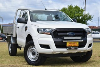 2016 Ford Ranger PX MkII XL Hi-Rider White 6 Speed Manual Cab Chassis.