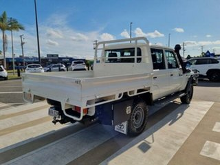 2020 Toyota Landcruiser VDJ79R Workmate Double Cab French Vanilla 5 Speed Manual Cab Chassis