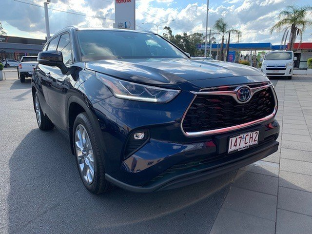 Demo Toyota Kluger Axuh78R Grande eFour Dalby, 2021 Toyota Kluger Axuh78R Grande eFour Saturn Blue 6 Speed Constant Variable Wagon Hybrid
