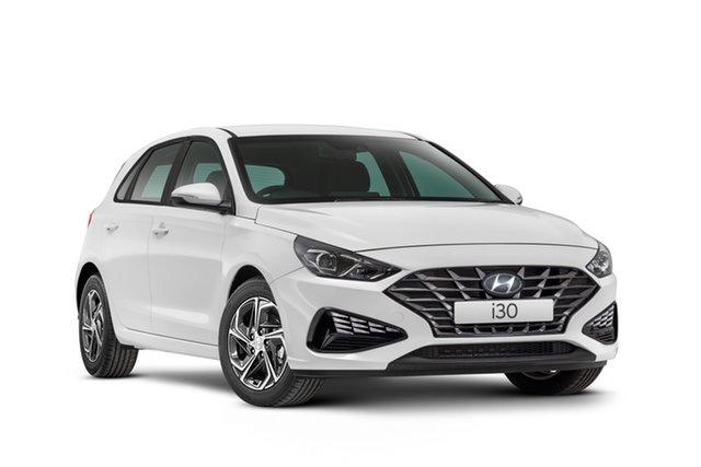 Demo Hyundai i30 PD.V4 MY21 Active Geelong, 2021 Hyundai i30 PD.V4 MY21 Active Polar White 6 Speed Automatic Hatchback