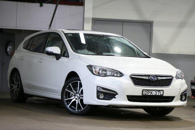 Pre-Owned Subaru Impreza MY18 2.0I Premium (AWD) Mosman, 2017 Subaru Impreza MY18 2.0I Premium (AWD) Pearl White Continuous Variable Hatchback