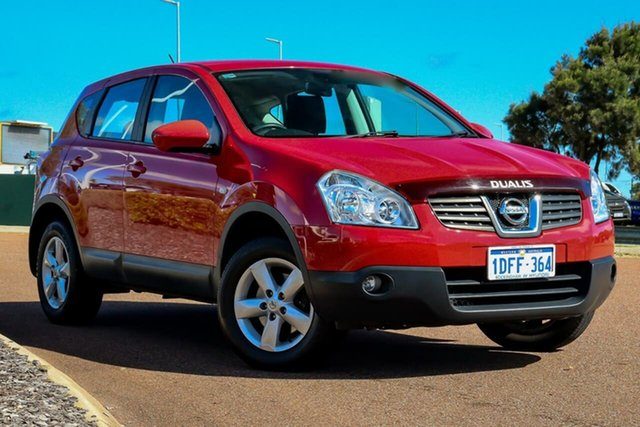 Used Nissan Dualis J10 MY2009 Ti Hatch X-tronic Rockingham, 2010 Nissan Dualis J10 MY2009 Ti Hatch X-tronic Red 6 Speed Constant Variable Hatchback