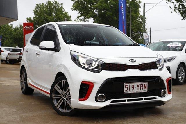 Used Kia Picanto JA MY19 GT-Line Toowoomba, 2018 Kia Picanto JA MY19 GT-Line White 4 Speed Automatic Hatchback