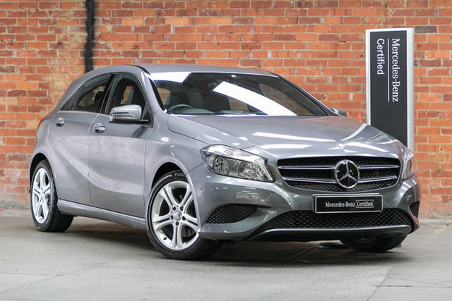 Certified Pre-Owned Mercedes-Benz A-Class W176 805+055MY A180 D-CT Mulgrave, 2015 Mercedes-Benz A-Class W176 805+055MY A180 D-CT Mountain Grey 7 Speed