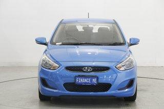 2018 Hyundai Accent RB6 MY18 Sport Blue 6 Speed Sports Automatic Sedan.