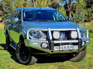 2017 Mitsubishi Triton MQ MY17 Exceed Double Cab Sterling Silver 5 Speed Sports Automatic Utility.