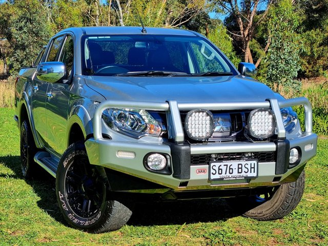 Used Mitsubishi Triton MQ MY17 Exceed Double Cab Morphett Vale, 2017 Mitsubishi Triton MQ MY17 Exceed Double Cab Sterling Silver 5 Speed Sports Automatic Utility