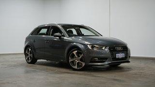 2014 Audi A3 8V MY14 Ambition S Tronic Quattro Grey 6 Speed Sports Automatic Dual Clutch Sedan.