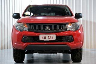 2017 Mitsubishi Triton MQ MY17 GLS Double Cab Red 5 Speed Sports Automatic Utility.