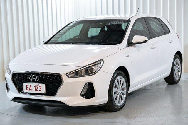 Used Hyundai i30 PD MY18 Go Hendra, 2018 Hyundai i30 PD MY18 Go White 6 Speed Sports Automatic Hatchback