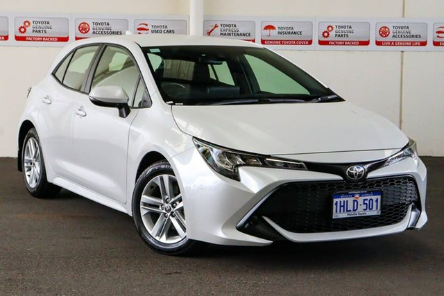 Pre-Owned Toyota Corolla Mzea12R Ascent Sport Myaree, 2021 Toyota Corolla Mzea12R Ascent Sport Frosted White 10 Speed Constant Variable Hatchback