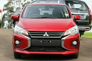 2021 Mitsubishi Mirage LB MY22 ES Red Planet 1 Speed Constant Variable Hatchback