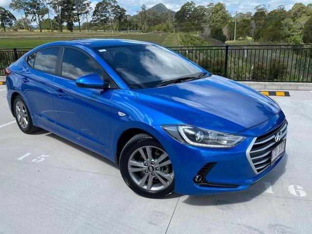 Used Hyundai Elantra AD MY17 Active Cooroy, 2016 Hyundai Elantra AD MY17 Active Blue 6 Speed Sports Automatic Sedan