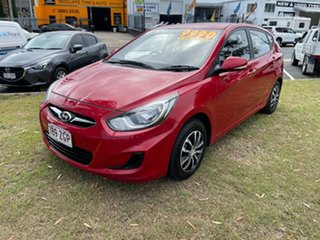 2014 Hyundai Accent RB2 Active Maroon 4 Speed Sports Automatic Hatchback.